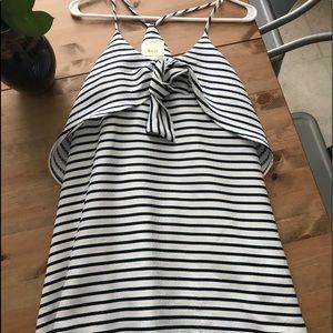 Anthropologie Maeve Striped nautical dress